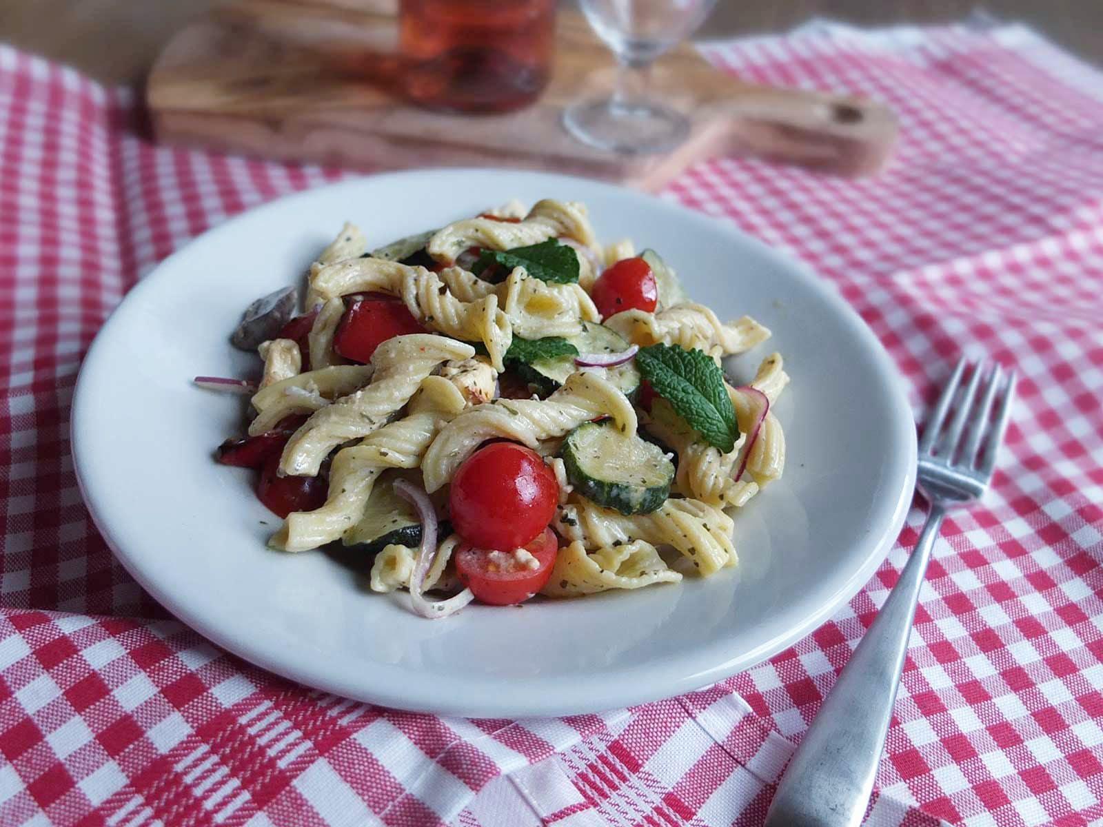 nudelsalat mit ofengemüse leibundseele pasta aus westfalen